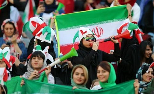 Iranian Women Attend Football For The First Time To Watch Their Men Thrash Cambodia 14-0
