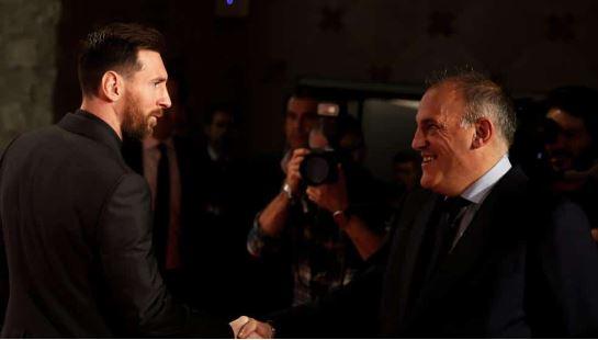 Lionel Messi, Javier Tebas.