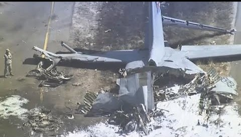 Cargo plane crashes