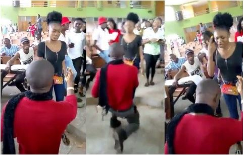 Young lady rejects marriage proposal