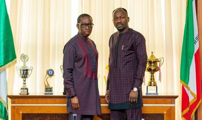 Apostle Johnson Suleman and Governor Ifeany Okowa