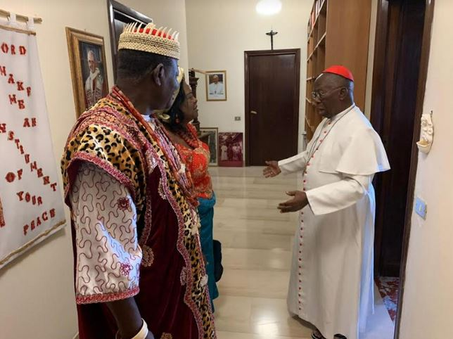 traditional ruler meets pope