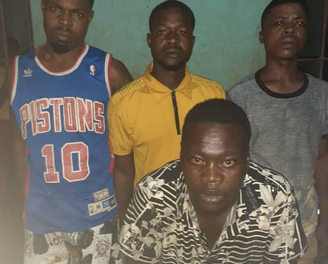 The suspected cultists after they were arrested