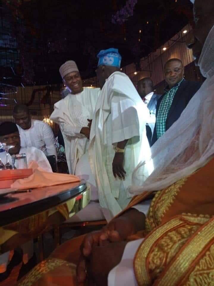 Tinubu, Osinbajo, Saraki Meet At Lagos Party