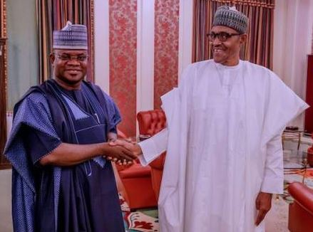 Governor Yahaya Bello and President Muhammadu Buhari