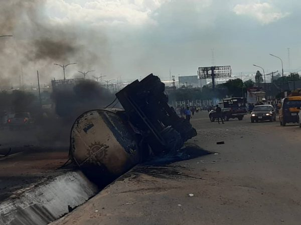 tanker explodes in Onitsha