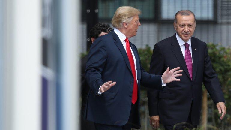 US President Donald Trump and Turkey's leader Recep Erdogan