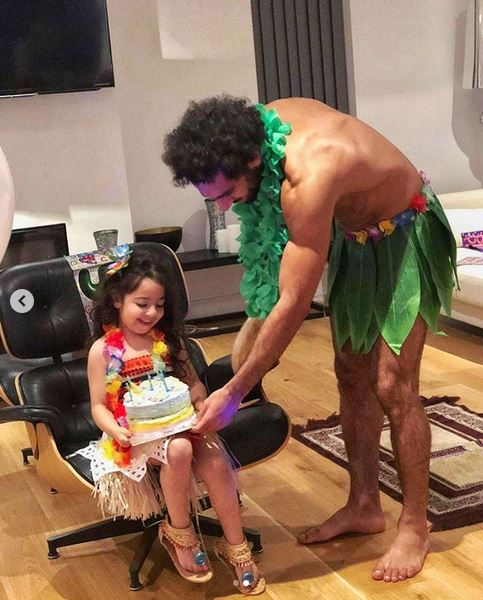 Mo Salah and daughter