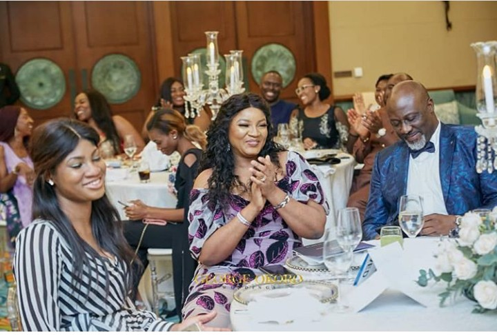 Omotola Jalade-Ekeinde and Daughter