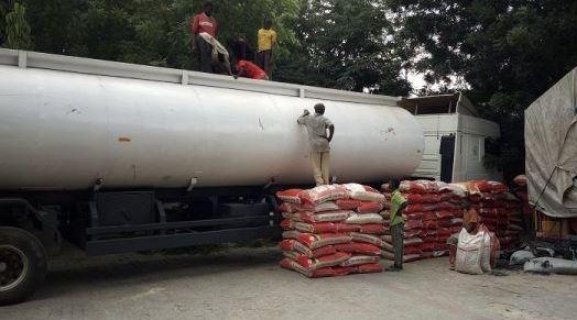 Customs intercepts diesel tanker loaded with 250bags of rice