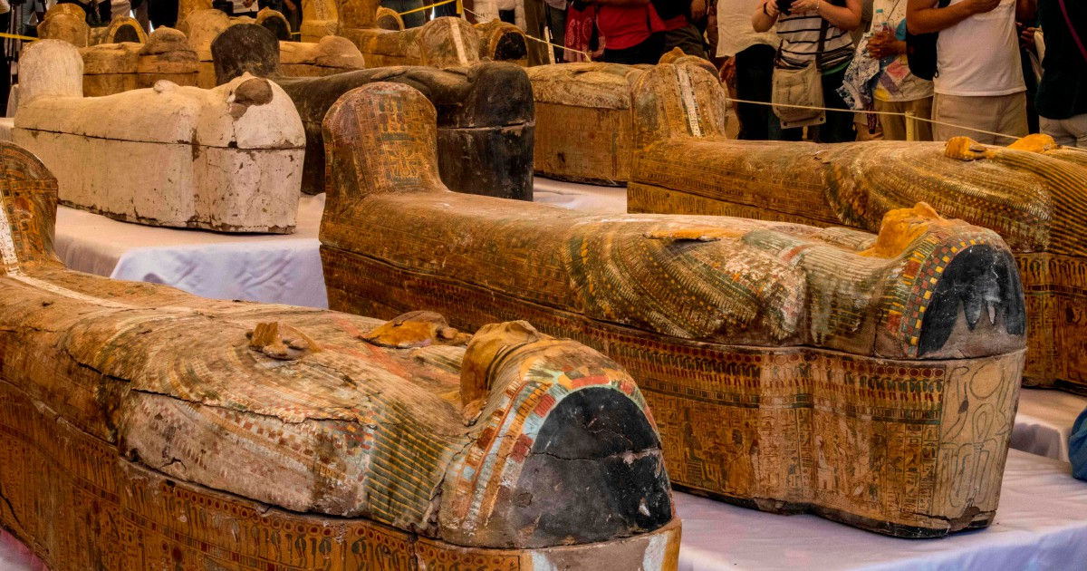 Egypt unveils biggest ancient coffin in over a century