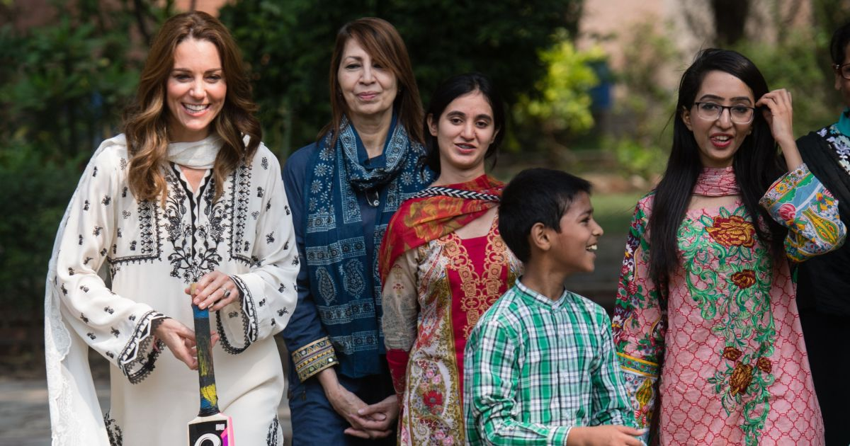 Kate and Prince William spending time with orphans