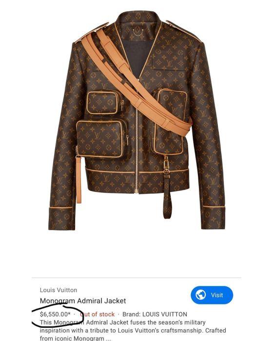 Wizkid Louis Vuitton jacket
