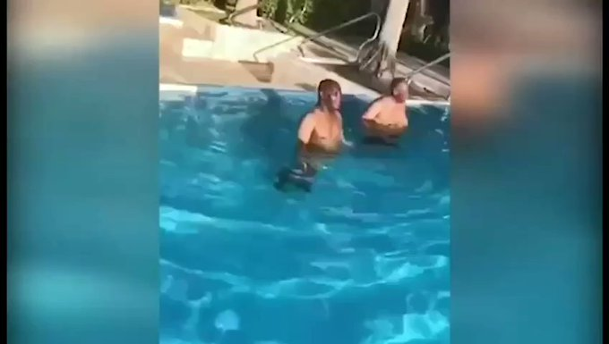 Atiku Abubakar swimming in Dubai