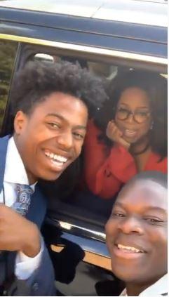 Oprah sends Nigerian boy phone