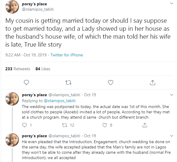 Bride slumps after finding husband to be is a married man