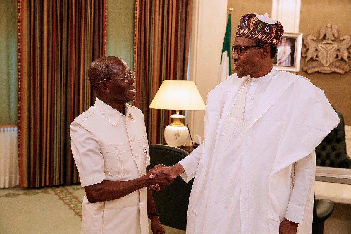 Comrade Adams Oshiomhole and President Muhammadu Buhari