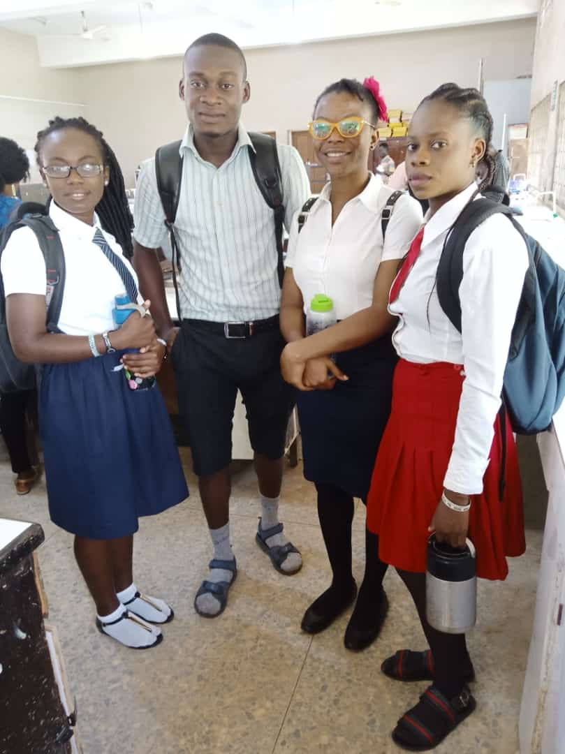 Futa students storm school in grand style
