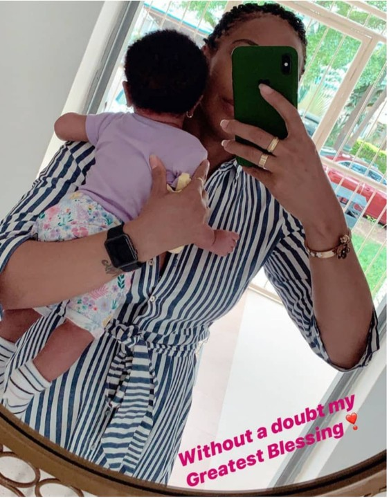 Tboss shares photo of her baby
