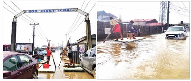 flooded Lagos communities