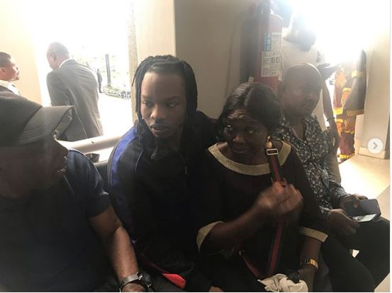 Naira Marley, and mother