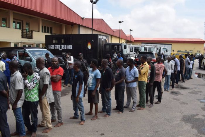 Lagos punishes traffic offenders