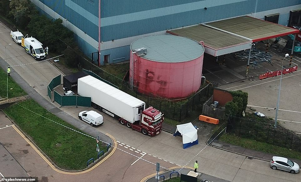 39 frozen bodies found inside trailer in the United Kingdom