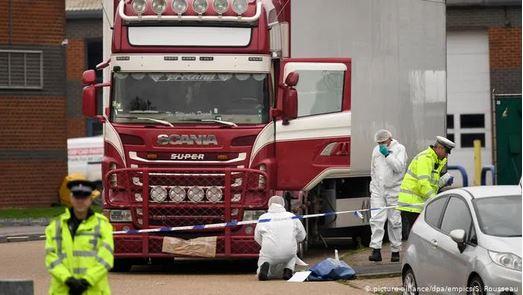 Dead body in lorry trailer