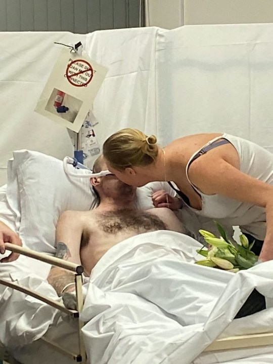 man marries from hospital bed