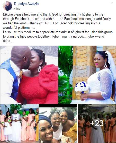 Roselyn Awuzie and husband