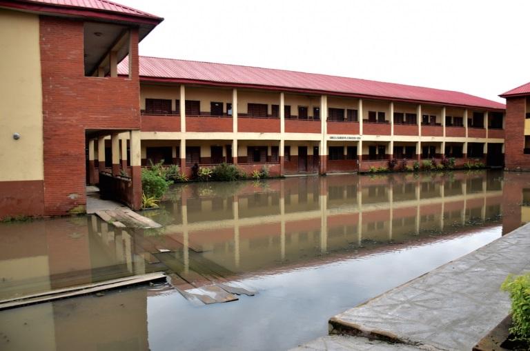 flooded Lagos community
