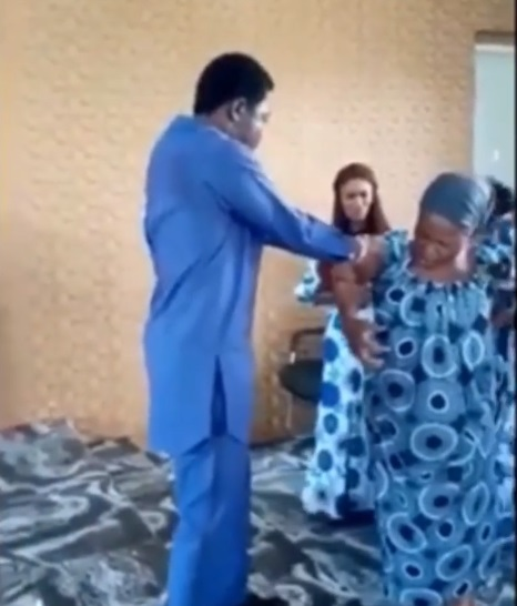 Pastor doing fake miracle