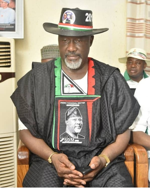 Dino Melaye rocking customized agbada