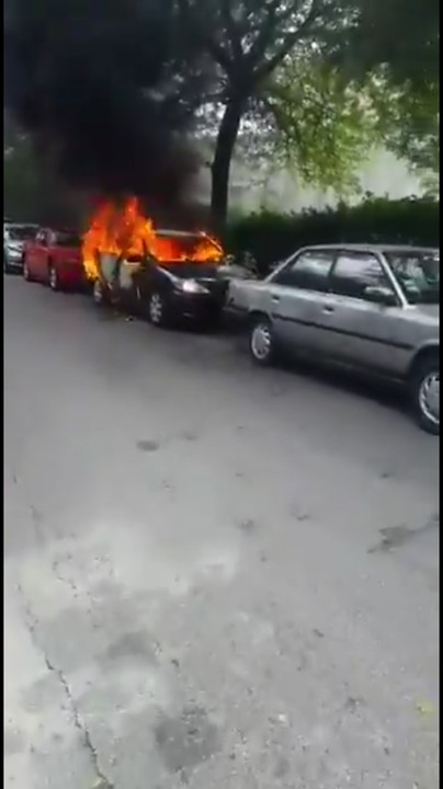 Woman sets husband's car ablaze