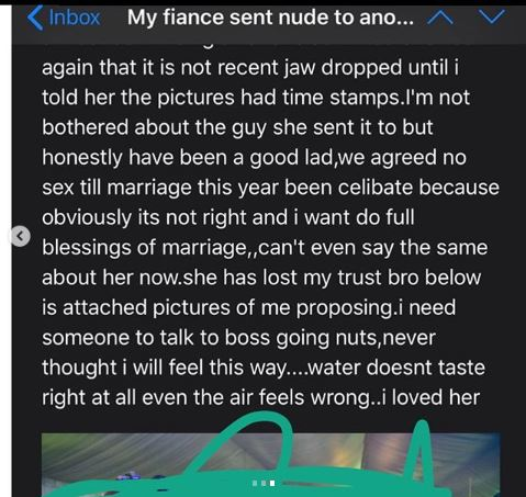 cheating fiancee
