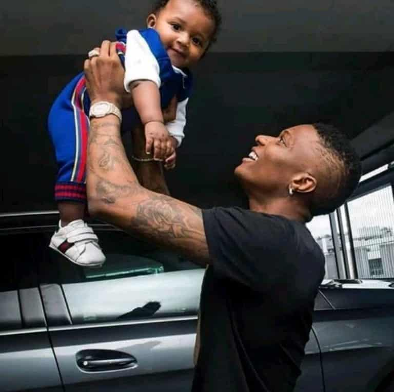 Wizkid and his son, Zion
