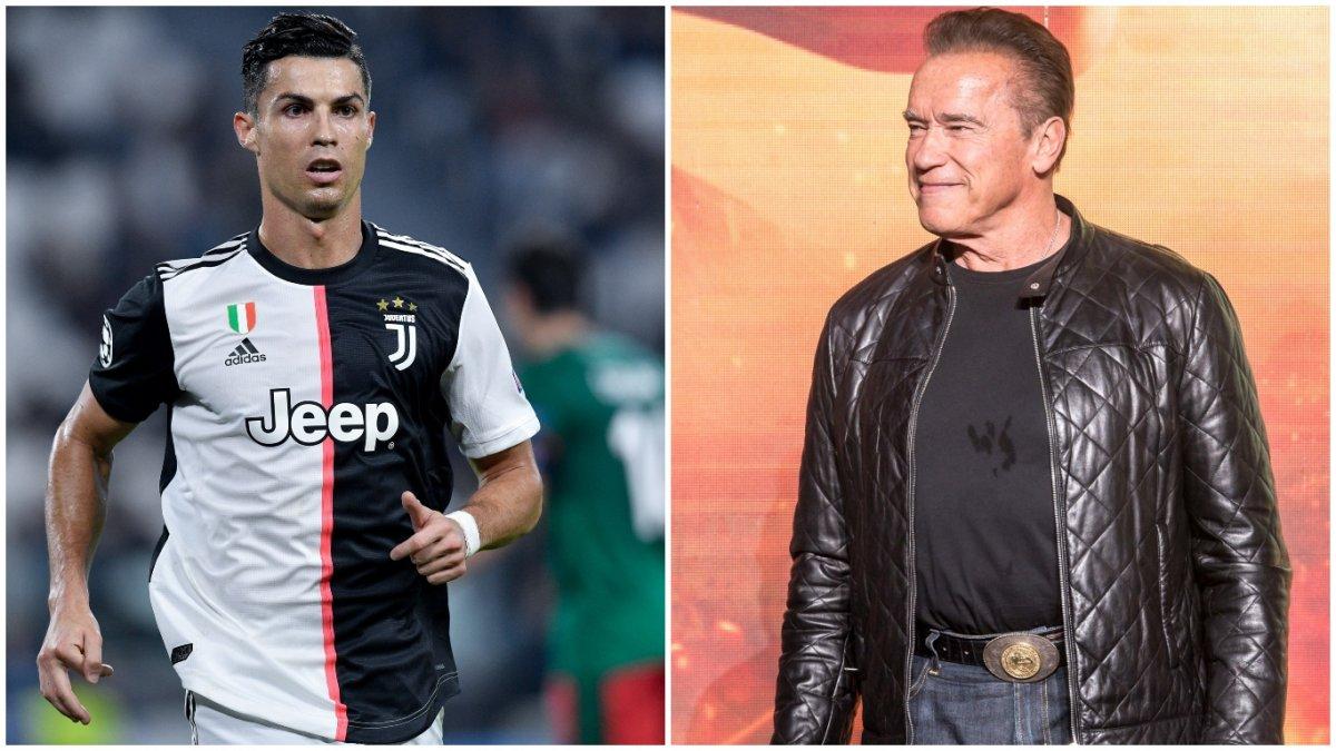 Arnold Schwarzenegger and Cristiano Ronaldo