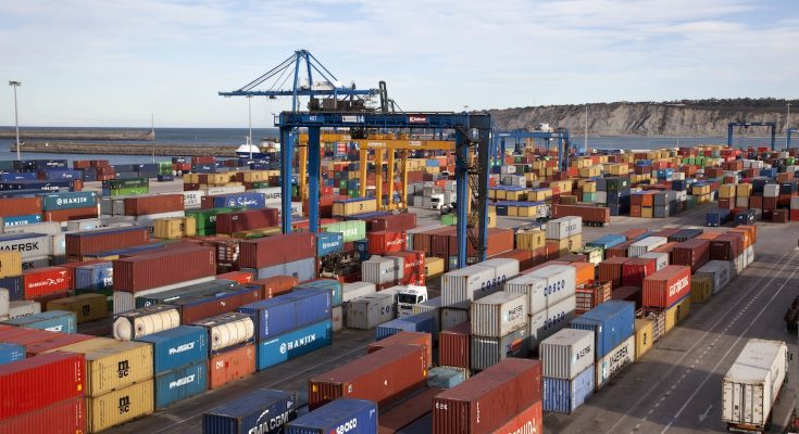 File photo: Containers at the port