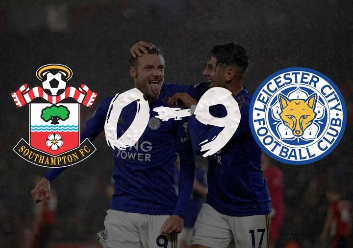 Southampton lose 9-0 to Leicester