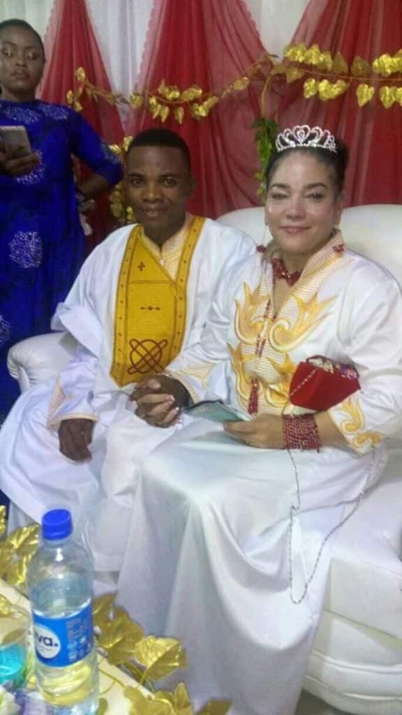 Etido Etim Inyang and his wife, Migdalia Luiz Vasquez