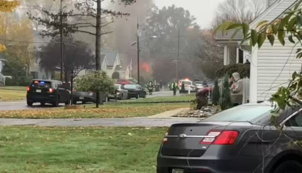 Plane crashes on home