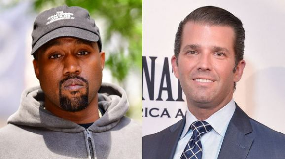 Kanye West and Donald Trump Jr