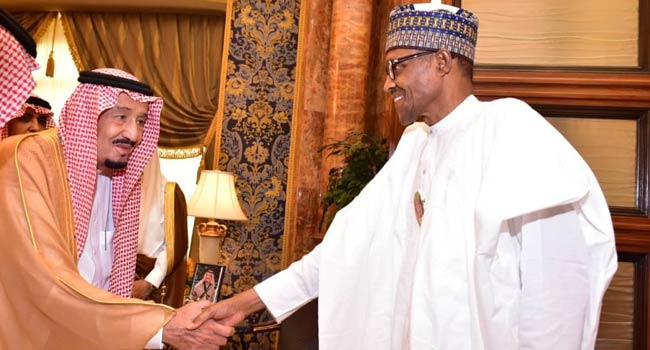 Buhari met with King Salman Bin Abdulaziz al Saud of Saudi Arabia