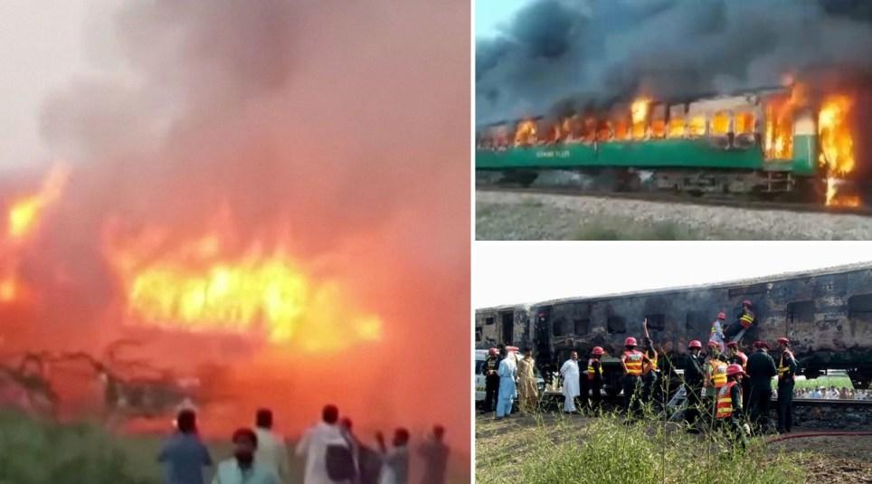 people dead in train fire