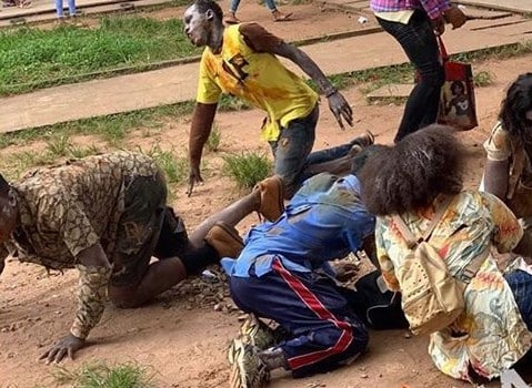 Uniben students dress as zombies