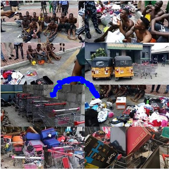 125 Nigerians Who Looted Shoprite Outlets In Lagos Arrested And Paraded