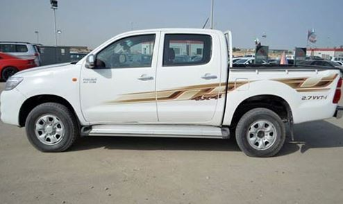 Abuja Stolen Car Announcement - White Hilux Van with Reg Number LG 36 BLF