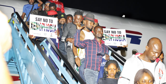 Breaking News: Second Batch Of 319 Nigerians Depart South Africa