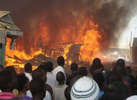 40 passengers escape death as fire razes Young Shall Grow Motors