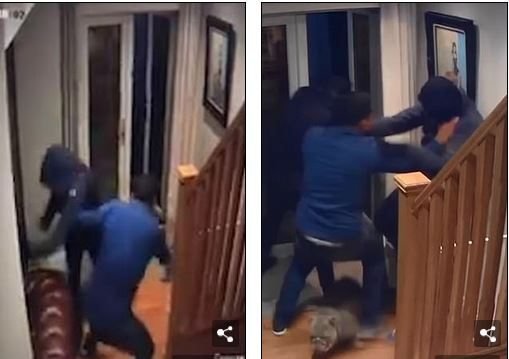 Man fights off robbers